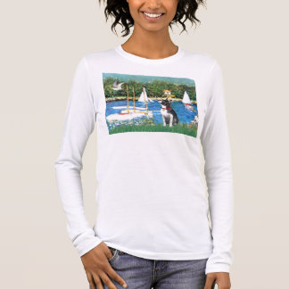 Sailboats - Boston Terrier #@ Long Sleeve T-Shirt