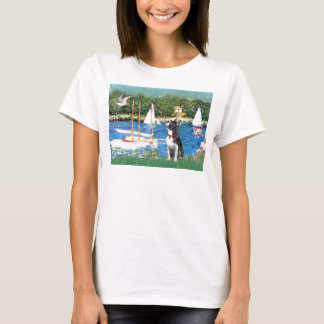 Sailboats - Boston Terrier #@ T-Shirt