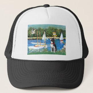 Sailboats - Boston Terrier #@ Trucker Hat