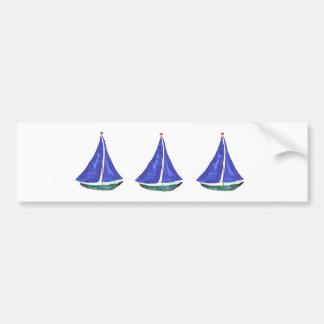 Sailboats Bumper Sticker