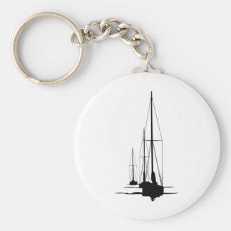 Sailboats - Cal 2-30 - Dawn Patrol Basic Round Button Keychain
