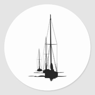 Sailboats - Cal 2-30 - Dawn Patrol Classic Round Sticker