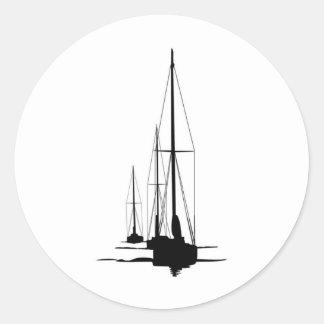 Sailboats - Cal 2-30 - Dawn Patrol Classic Round Sticker