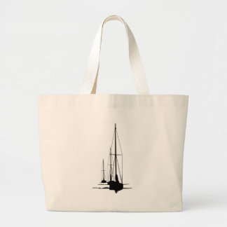 Sailboats - Cal 2-30 - Dawn Patrol Large Tote Bag