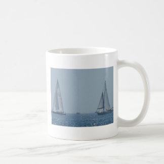 Sailboats Classic White Coffee Mug