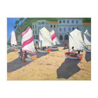 Sailboats Costa Brava 1999 Canvas Print