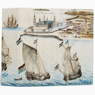 Sailboats Dutch Fleet Ocean Towns Avery Binder