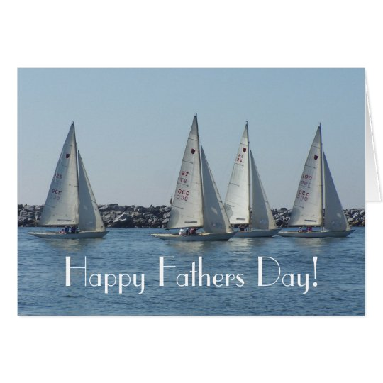 Sailboats Fathers Day Card