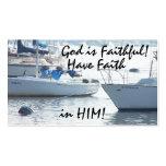 Sailboats God is Faithful! Card Business Card