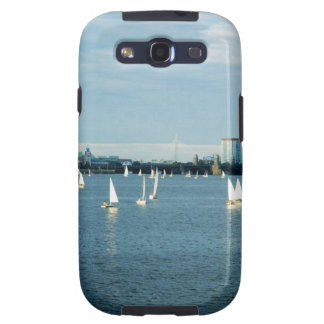 Sailboats in a river, Charles River, Boston, 2 Samsung Galaxy S3 Covers