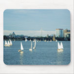 Sailboats in a river, Charles River, Boston, 2 Mouse Pad