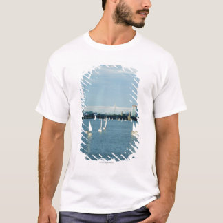 Sailboats in a river, Charles River, Boston, 2 T-Shirt