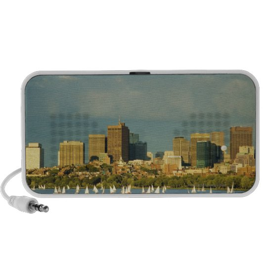Sailboats in a river, Charles River, Boston, Mini Speaker