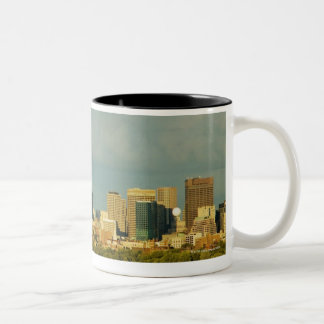 Sailboats in a river, Charles River, Boston, Two-Tone Coffee Mug