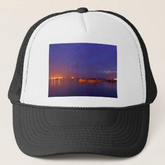 Sailboats In Bay Trucker Hat
