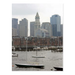 Sailboats in Boston Harbor Postcard