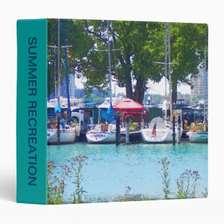 Sailboats In Dock Binder