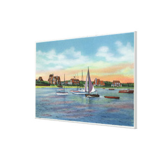 Sailboats in Lewis Bay, Englewood Beach View Canvas Print