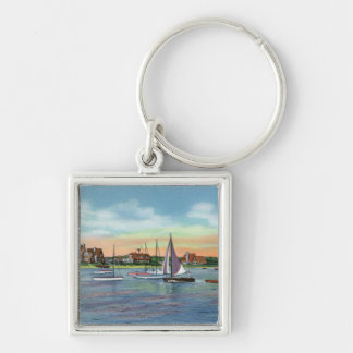 Sailboats in Lewis Bay, Englewood Beach View Keychain