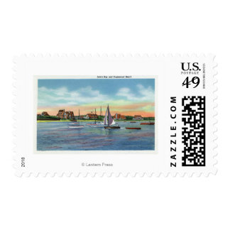 Sailboats in Lewis Bay, Englewood Beach View Postage