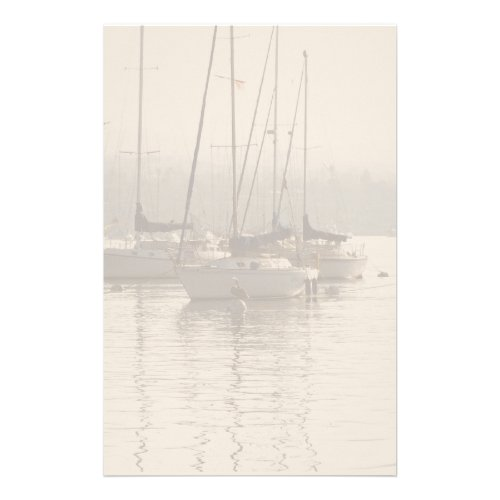 Sailboats in Marina Stationery