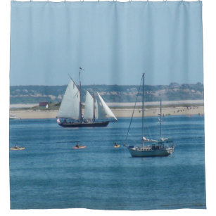 Sailboats In Provincetown Cape Cod Shower Curtain