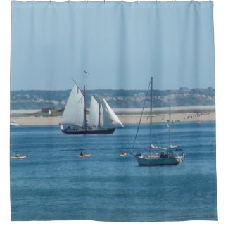 sailboats in in cape cod shower curtain