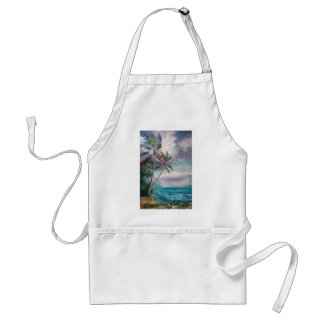 Sailboats in the Bay Adult Apron