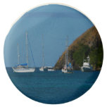 Sailboats in the Bay White and Blue Nautical Chocolate Dipped Oreo