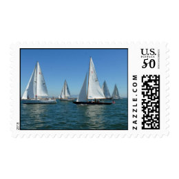 Sailboats In The Harbor Postage
