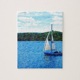 Sailboats In The Summer Jigsaw Puzzles