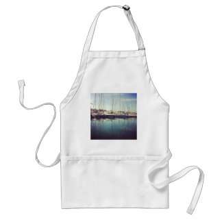 Sailboats in Water Adult Apron