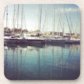 Sailboats in Water Beverage Coaster