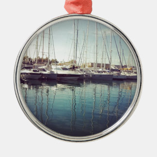 Sailboats in Water Christmas Ornaments