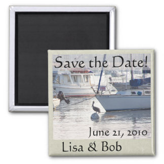 Sailboats Jetty Save the Date Magnet