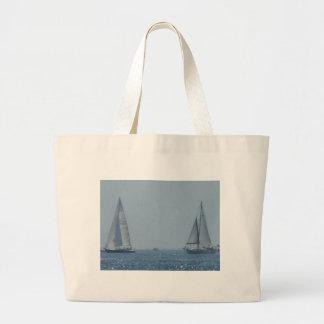 Sailboats Large Tote Bag