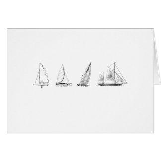 Sailboats Logo Greeting Card
