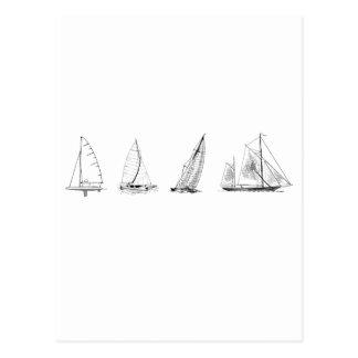 Sailboats Logo Postcard