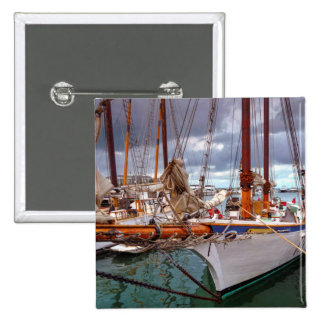 Sailboats Morred At Key West Button