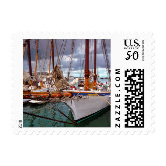 Sailboats Morred At Key West Postage