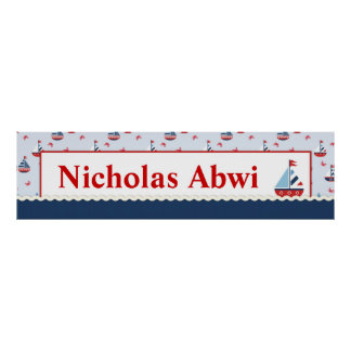 Sailboats Nautical Baby Shower Posters