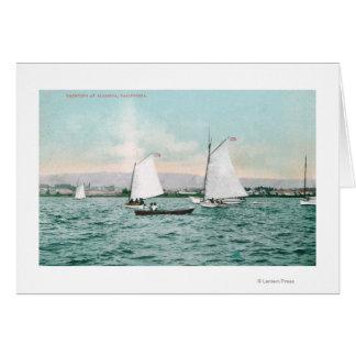 Sailboats off Alameda BeachAlameda, CA Greeting Card