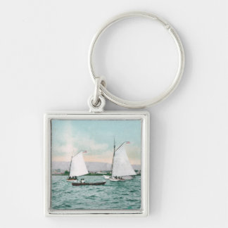 Sailboats off Alameda BeachAlameda, CA Keychain