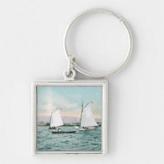 Sailboats off Alameda BeachAlameda, CA Keychains