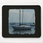 Sailboats on Black Mouse Pads
