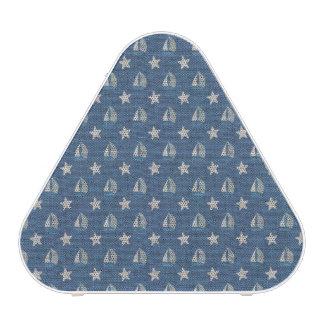 Sailboats on Blue Linen Bluetooth Speaker