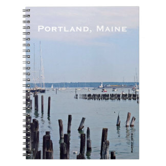 Sailboats On The Coast of Old Port, Portland Maine Notebook