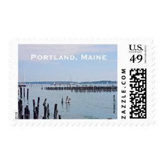 Sailboats On The Coast Of Old Port, Portland Maine Postage