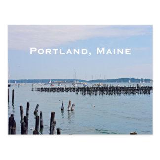 Sailboats On The Coast of Old Port, Portland Maine Postcard