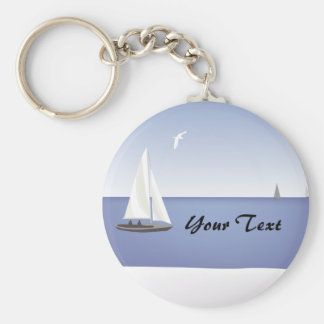 Sailboats on the Horizon Keychain